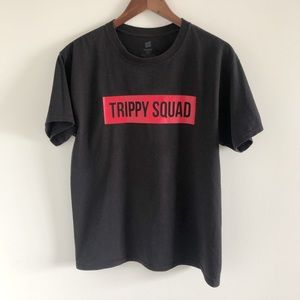 Hanes Trippy Squad Black Graphic Tee Med